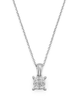 Bloomingdale's Princess-Cut Diamond Pendant Necklace in