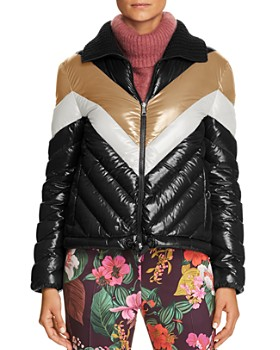 Moncler - Albatros Jacket, Turtleneck Sweater & Floral Print Trousers ...