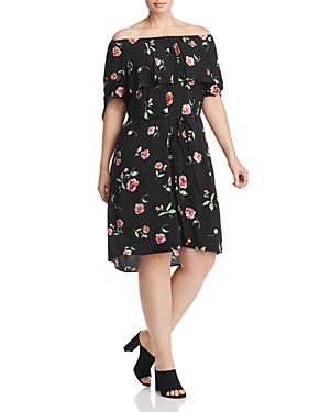 New Estelle Meadow Off-the-Shoulder Dress - 100% Exclusive, Black Floral