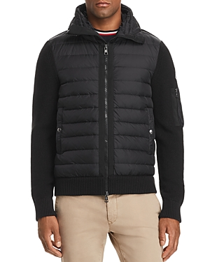 Moncler Maglione Tricot Hooded Down Knit Jacket