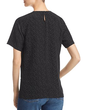 Eileen Fisher Petites - Morse Code Print Box Top
