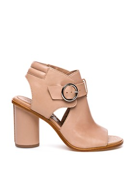 Bernardo - Hazel Peep-Toe Leather Booties