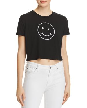 NY SMILEY CROPPED TEE - 100% EXCLUSIVE
