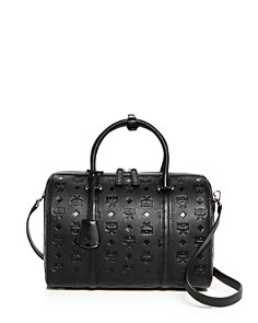 MCM - Essential Boston Embossed Monogram Medium Satchel