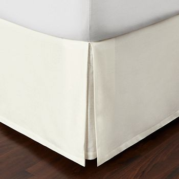 Hudson Park Collection - Seed Stitch Trellis Bedskirt, King - 100% Exclusive