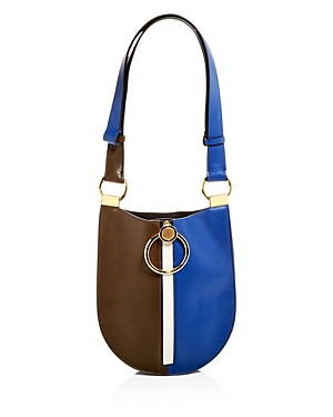 Marni Earring Color-Block Small Leather Hobo