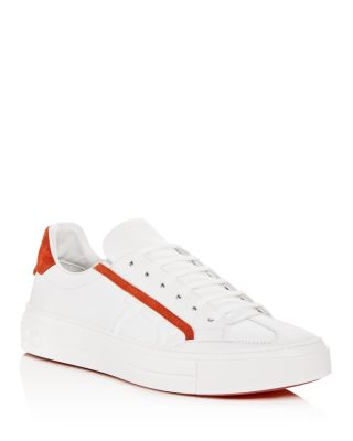 Borg Leather Lace Up Sneakers