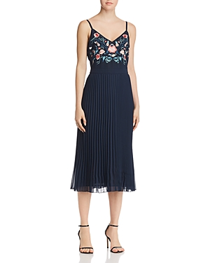 nanette Nanette Lepore Embroidered Bodice Dress