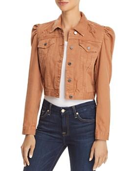 BLANKNYC - Puff-Sleeve Distressed Cropped Denim Jacket