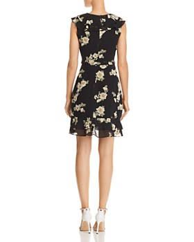 Bardot -  Ruffled Floral Faux-Wrap Dress