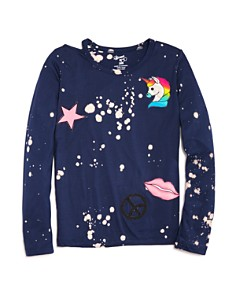 Flowers by Zoe Girls' Unicorn Peace Bleached Tee - Little Kid, Big Kid - Bloomingdale's_0