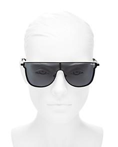 Quay - Women's Can You Not Flat Top Shield Sunglasses, 143mm