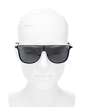 Quay - Women's Can You Not Flat Top Shield Sunglasses, 143mm
