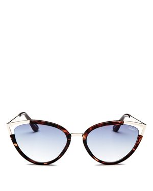 QUAY Hearsay 65Mm Cat Eye Sunglasses - Tort/ Navy
