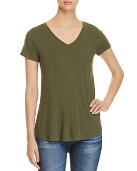 Cupio - High/Low V-Neck Pocket Tee