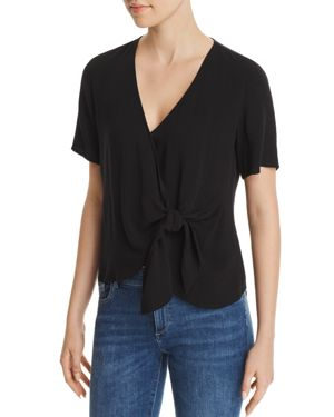 Re: Named Margot Knot-Front Wrap Top