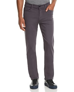 7 For All Mankind - Luxe Sport Slimmy Straight Slim Fit Jeans in Gunmetal