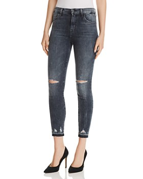 J Brand - Alana High Rise Crop Skinny Jeans in Flurry