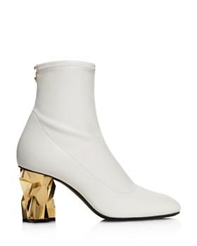 Giuseppe Zanotti - Women's Iceblock Metallic Heel Booties