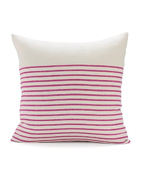 "Sugar Feather - Three-Quarter-Stripe Decorative Pillow, 22"" x 22"""