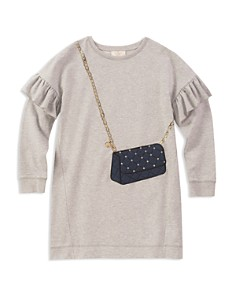 kate spade new york Girls' Quilted-Handbag French Terry Sweater Dress - Big Kid - Bloomingdale's_0