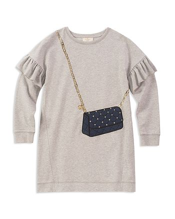34131d799 Kids. > kate spade new york - Girls' Quilted-Handbag French Terry Sweater  Dress - Big