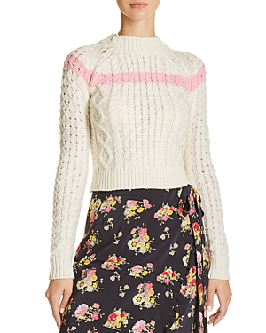 Preen Line CROPPED CABLE SWEATER