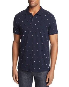 Scotch & Soda - Diamond-Print Regular Fit Polo Shirt