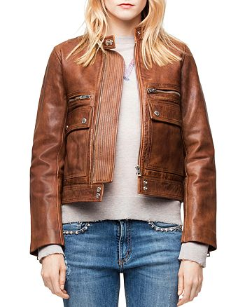 Zadig & Voltaire Love Leather Aviator Jacket | Bloomingdale's