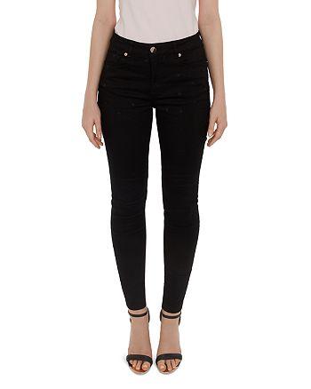 8c77e57444b Ted Baker Dahlene Embroidered Star Skinny Jeans in Black ...