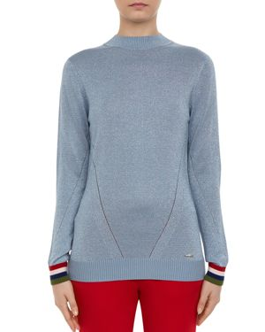 COLOUR BY NUMBERS ALEXXAA METALLIC SWEATER