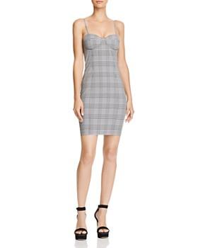 Olivaceous - Plaid Bustier Mini Dress - 100% Exclusive