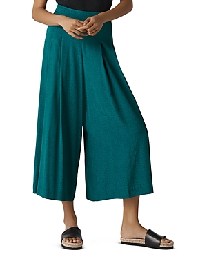 Whistles Pleated Jacquard Culottes