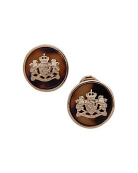 Ralph Lauren - Tortoise Crest Clip-On Earrings