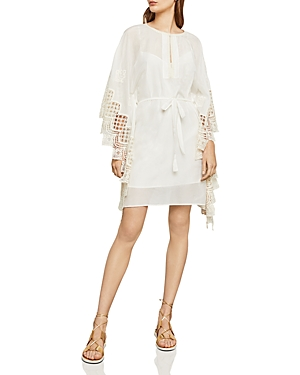 Bcbgmaxazria Mosaic Embroidered-Trim Dress
