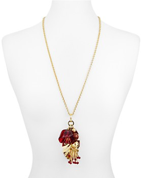 kate spade new york - Botanical Cluster Pendant Necklace, 28""