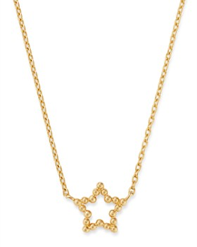 """Moon & Meadow - 14K Yellow Gold Beaded Star Adjustable Necklace, 16""""-18"""" - 100% Exclusive"""