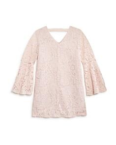 AQUA - Girls' Bell-Sleeve Lace Shift Dress, Big Kid - 100% Exclusive