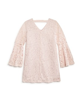 AQUA - Girls' Bell-Sleeve Lace Shift Dress, Big Kid - 100% Exclusive