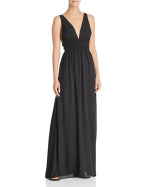 WAYF SURREY PLUNGING CUTOUT GOWN