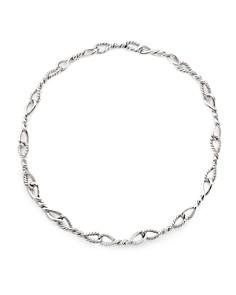 David Yurman - Continuance Short Linked Necklace with Diamonds