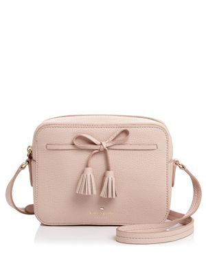 Hayes Street - Arla Leather Crossbody Bag - Pink in Warm Vellum