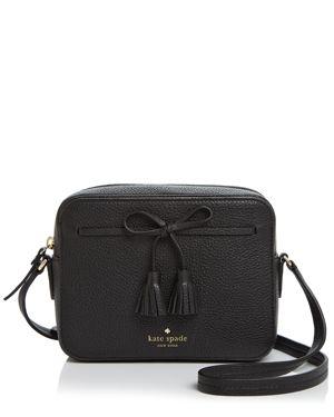 Hayes Street - Arla Leather Crossbody Bag - Black, Black/Gold