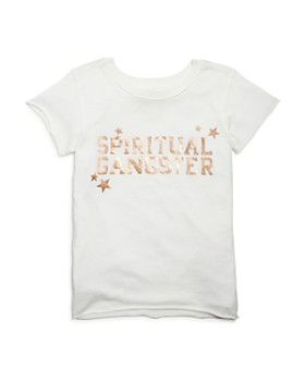 Spiritual Gangster - Girls' Foil Logo Tee, Little Kid, Big Kid - 100% Exclusive