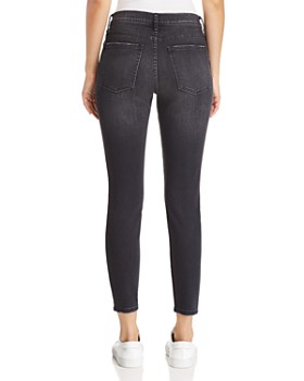 Current/Elliott - The Stiletto Distressed Cropped Skinny Jeans in 2 Year Destroy Stretch Black
