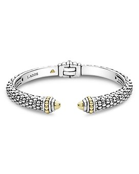LAGOS - 18K Yellow Gold & Sterling Silver Signature Caviar Cuff Bracelet