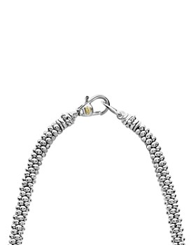 "LAGOS - 18K Yellow Gold & Sterling Silver Diamond Lux Black Diamond Necklace, 16"""