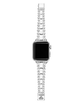 LAGOS - Sterling Silver Smart Caviar Apple™ Smartwatch Straps - 100% Exclusive
