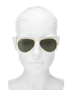 Ray-Ban - Unisex Classic Aviator Sunglasses, 55mm
