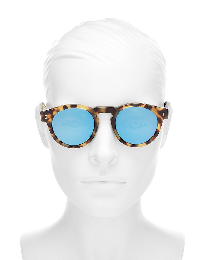 Illesteva Women s Leonard Mirrored Round Sunglasses, 48mm ... f76b0b295c
